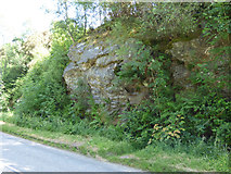 NS0179 : Rock by the A886 road by Thomas Nugent