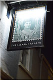 TL4658 : Alexandra Arms sign by N Chadwick