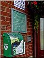 SO8995 : Defibrillator at Penn Bowling Club, Wolverhampton by Roger  Kidd