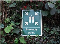 TQ8115 : Assembly point sign at Westfield Surgery by Patrick Roper