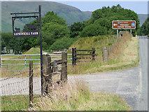 NR9983 : Lephinkill Farm sign by Thomas Nugent