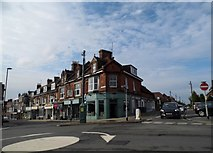 TQ3118 : Shops on the corner of Church Road, Burgess Hill by David Howard