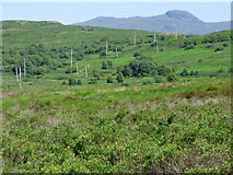 NS0281 : Power lines by the B836 road by Thomas Nugent