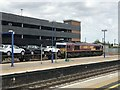 SP4640 : Class 66 no.66183 with a car transporter at Banbury Station by Jonathan Hutchins