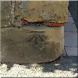 SK3616 : Bench mark, 65 Wood Street, Ashby-de-la-Zouch by Alan Murray-Rust