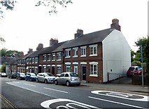 SK3616 : Terraced houses, Leicester Road Ashby-de-la-Zouch by Alan Murray-Rust