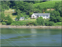 NS0583 : Cottages by Loch Striven by Thomas Nugent