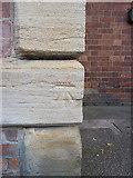 SJ9400 : OS benchmark - Wednesfield, St Thomas's church by Richard Law