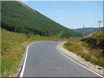 NS0883 : The B836 road at Glen Lean by Thomas Nugent