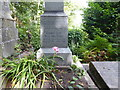 TQ2886 : Close up of the pedestal above the grave of George Eliot in Highgate Cemetery by Marathon