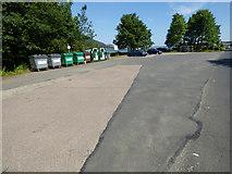NS1581 : Recycling bins at Sandbank by Thomas Nugent