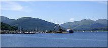NS1680 : Timber loading pier at Sandbank by Thomas Nugent