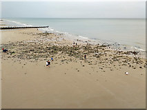 TG2142 : Beach at low tide, Cromer by Robin Webster