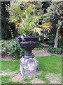 SE1338 : Roberts Park - flower urn by Stephen Craven