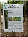 SP8304 : National Trust Notice at Pulpit Wood by David Hillas