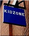 SK7519 : Kidzone name sign, Leicester Street, Melton Mowbray by John Stewart Jones