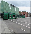 ST3188 : Green buses in Friars Walk bus station, Newport by Jaggery