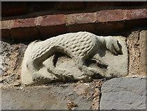 SJ5608 : Saxon carving by Chris Gunns