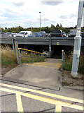 TM0932 : Steps to the Multstorey Car Park by Adrian Cable