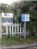 TM0932 : Disabled Parking sign & Car Park sign by Adrian Cable