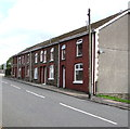SS9390 : Row of six houses, North Road, Ogmore Vale by Jaggery