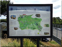 TM0932 : Walk in Constables Footstep sign by Adrian Cable