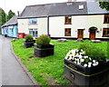 ST3390 : Caerleon in Bloom flower tubs, High Street, Caerleon by Jaggery