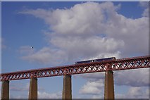 NT1378 : Crossing the Forth Bridge by Richard Webb