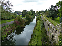 ST5545 : Wells Bishops Palace moat by Chris Gunns