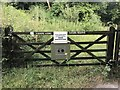 SJ8048 : Gate into Podmore Woods by Jonathan Hutchins