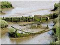 TM2844 : Waldringfield: hulk in the mud by John Sutton