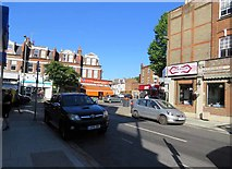 TQ2789 : Kitchener Road/High Road (Great North Road) junction by Andrew Tatlow