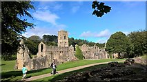 SE2768 : Fountains Abbey by Chris Morgan
