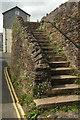 SX8060 : Steps, South Street, Totnes by Derek Harper