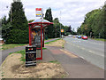 SP7558 : Bus Stop on London Road by David Dixon