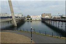 SD3317 : Bridge and pier by DS Pugh
