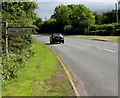 SO4408 : Pen-y-clawdd direction and distance sign in Coed-y-fedw, Monmouthshire by Jaggery