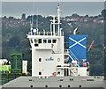 "J3778 : The ""Scot Leader"" (bridge and funnel), Belfast Lough (August 2018) by Albert Bridge"