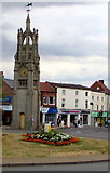 SP2871 : Edwardian clock tower, The Square, Kenilworth by Jaggery
