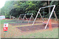 SP8809 : The New Playground under construction at Wendover Woods by Chris Reynolds