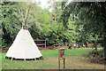 SP8809 : Teepee in the New Play Area in Wendover Woods by Chris Reynolds