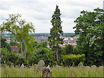 SU9948 : View north-east from The Mount cemetery by Robin Webster