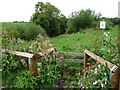 SE4371 : Stile on private path to the West Riding Anglers riverbank by Christine Johnstone