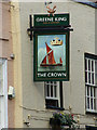 TM1031 : The Crown Public House sign by Adrian Cable