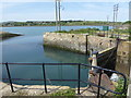 SW5537 : Entrance to Carnsew Pool, Hayle by Chris Allen