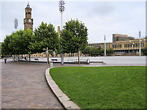 SE1632 : Bradford, Centenary Square by David Dixon