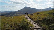 NG9558 : A pause on the Coire Dubh Mòr path by Julian Paren