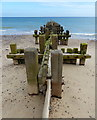 TG2839 : Groyne on the beach at Trimingham by Mat Fascione