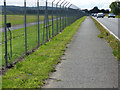 NS4666 : Glasgow Airport perimeter fence by Thomas Nugent