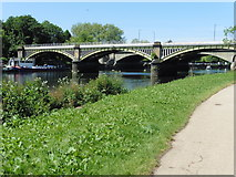 TQ1774 : The Thames Path National Trail near Richmond by Dave Kelly